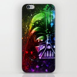Darth Vader Splash Painting Sci-Fi Fan Art iPhone Skin