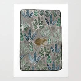 Save the frogs! Art Print