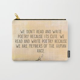 Read and Write Poetry Dead Poets Society Carry-All Pouch