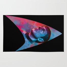 "Homage to Leonard Nimoy - Mr. Spock ""Star Trek"" (colored version) Rug"