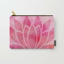Zen Watercolor Lotus Flower Yoga Symbol Carry-All Pouch