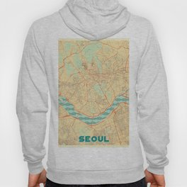 Seoul Map Retro Hoody