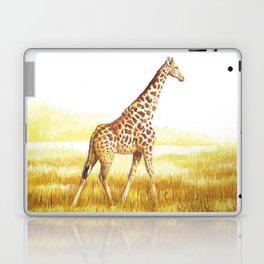 Giraffe painting Laptop & iPad Skin