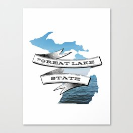 The Great Lake State IV Canvas Print