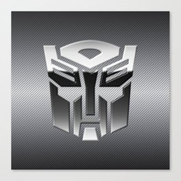 The Steel Chrome Of Autobot Canvas Print