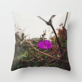 Lonely flower of Naszály mountain Throw Pillow