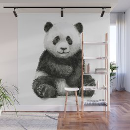 Panda Baby Watercolor Animal Art Wall Mural