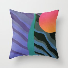 Crepuscular Streams Throw Pillow