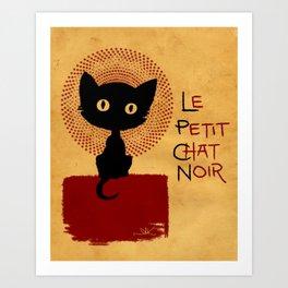 Le Petit Chat Noir Art Print