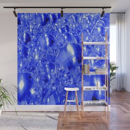 Blue Ornaments Wall Mural