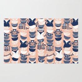 Swedish folk cats V // flesh background Rug