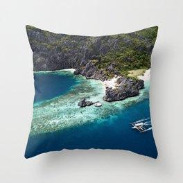 Island hopping around the Philippine Islands Throw Pillow