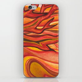 The Tree on Fire iPhone Skin