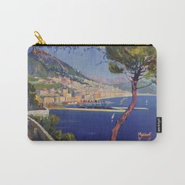 Salerno Italy vintage summer travel ad Carry-All Pouch