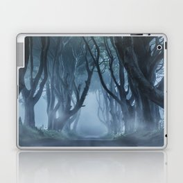 Very cold foggy morning at Dark Hedges Laptop & iPad Skin