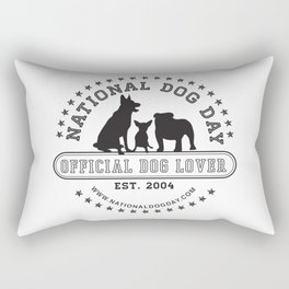 Official Dog Lover; National Dog Day  Rectangular Pillow