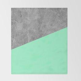 Geometry 101 Mint Meringue Throw Blanket