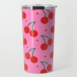Cherry Bomb Pattern Travel Mug