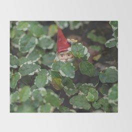 Peek-a-boo Gnome Throw Blanket