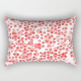 Cherry Polka Dots Distressed Rectangular Pillow