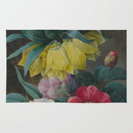 Pierre Joseph Redouté - Four Peonies and a Crown Imperial Rug