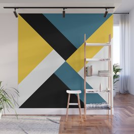 Triangles and stripes Wall Mural