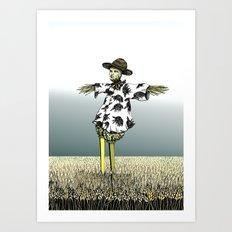 Crow Serie :: Scarecrow Henry Art Print