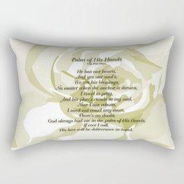 Palm of His Hands Rectangular Pillow