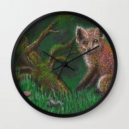 Fox of Shaolin Wall Clock