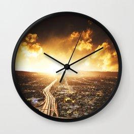 highway in los angeles Wall Clock