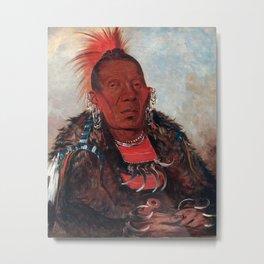 Wah-ro-née-sah, The Surrounder by George Catlin Metal Print