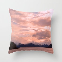 Rose Quartz Over Hope Valley Throw Pillow