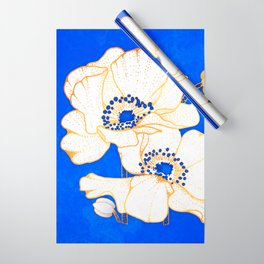 Ultramarine Blue :: Anemones Wrapping Paper