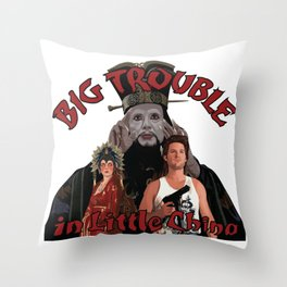 """""""Big Trouble"""" Throw Pillow"""