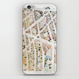Greenwich Village Map by Harlem Sketches iPhone Skin