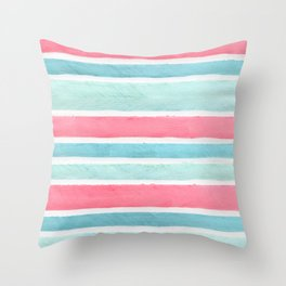 Pastel stripes Throw Pillow