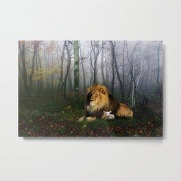 Lion and Lamb Metal Print