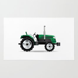 Green Isolated Tractor Rug