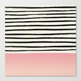 Blush x Stripes Canvas Print