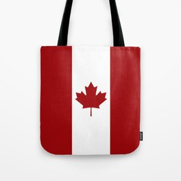 Canada: Canadian Flag (Red & White) Tote Bag