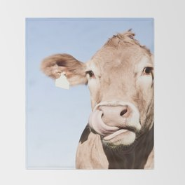 Holy cow Throw Blanket