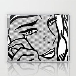 Crying-Girl02 B&W Laptop & iPad Skin
