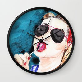 Girl With a Candy Wall Clock