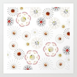 Cocktail Fireworks Art Print