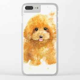 Poodle puppy Clear iPhone Case