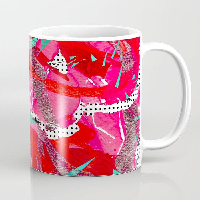 Groovy Red & Pink Coffee Mug