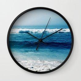 aqua foamy sea Wall Clock