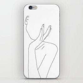 Woman's body line drawing illustration - Darla iPhone Skin