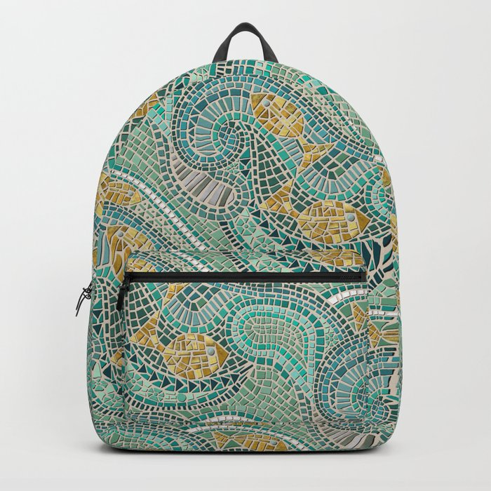 mosaic fish mint Backpack