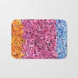 Orange, Pink and Blue Textile Texture Bath Mat